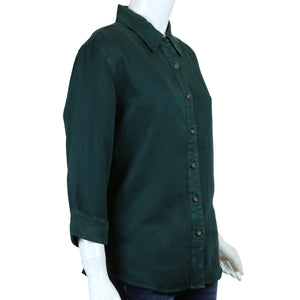 3/4 Sleeve Collared Button Down Top by Pulp