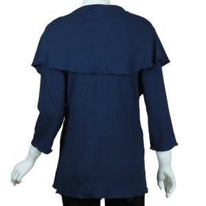 Carole Wang Cape Collar Top