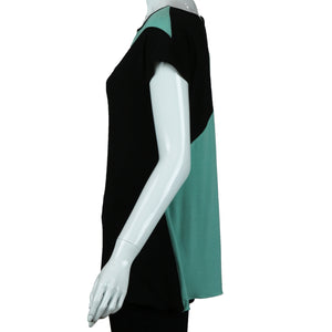 Drop Two Tone Cap Sleeve Tunic By Carole Wang