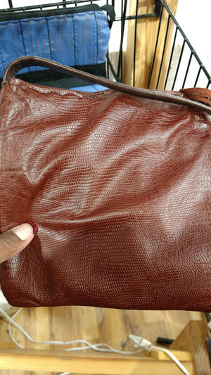Leather Hand Bag by Fiddle Bug  Bags