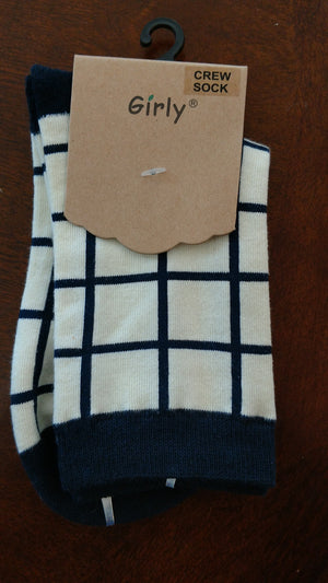 Assorted Cotton Crew Socks For Her