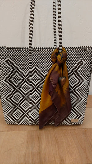 Recycled Plastic Woven Beach Bag