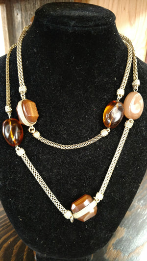 Amber Stone with Toggle Clasp