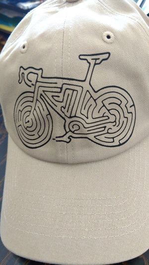 """Bike Maze"" Dad Hat by Redwood Clothing Company"