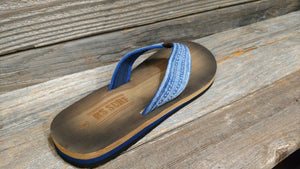 RS Surf Navy Burnished Sandal For Men