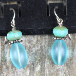 Drop Earring With Bead Accent by Wild Iris