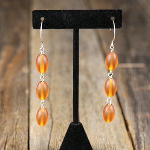 Assorted 3 Drop Multi Beaded Design Earrings by Salt