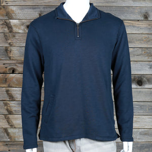 Heather Block 1/4 Zip Funnel Pullover