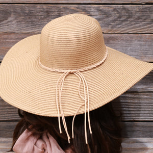 Floppy Beach Sun Hat With Rope Trim