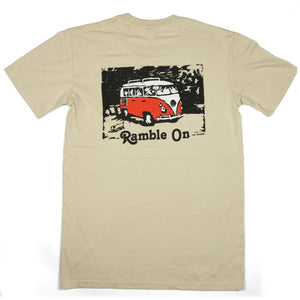 "Redwood Tees ""Ramble On"" Men's Short Sleeve Tee (Back Print)"