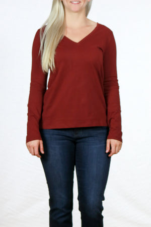 Long Sleeve V-Neck Tee By Pendleton