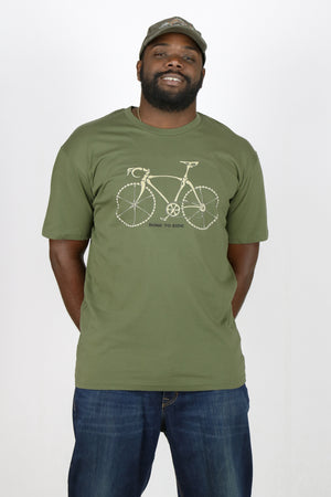 "Redwood Tees ""Bone To Ride"" Men's T-Shirt // 100% Ringspun Cotton // Cycling // Road Bike"
