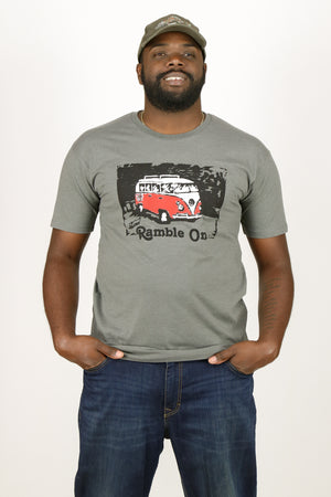 "Redwood Tees ""Ramble On"" Men's Short Sleeve Tee (Front Print)"