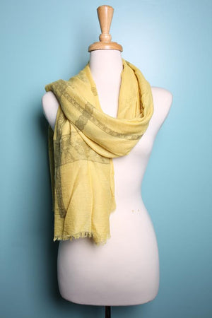 Print Lace Border Scarf by Fredd & Basha