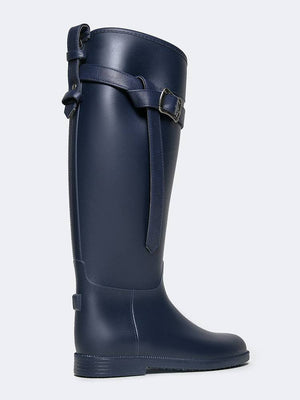 """Riff Raff"" Navy Rain Boot By Dirty Laundry"