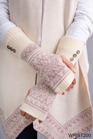 Swiss Alps Wrist Warmers Gloves