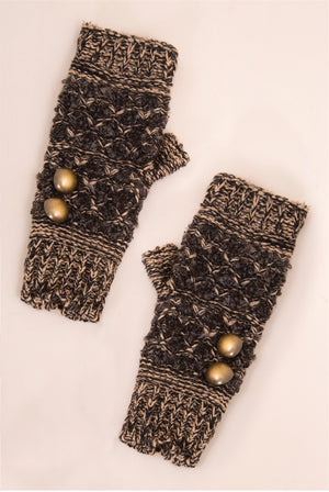 Calico Finger Less Wrist Warmer Gloves