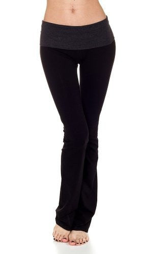 T-Party Black/Charcoal Contrast Waistband Yoga Pant