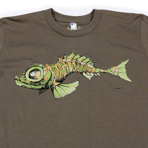 "Redwood Tees ""Fish"" Men's Organic Cotton Short Sleeve Tee"