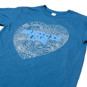 "Redwood Tees ""Music Is Love"" Men's Ringspun Cotton Short Sleeve Tee"