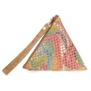 Triangle Pouch In Cork