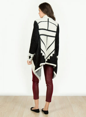 Asymmetrical Long Sleeve Cardigan