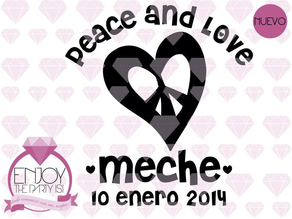 TERMOS XV AÑOS PEACE AND LOVE
