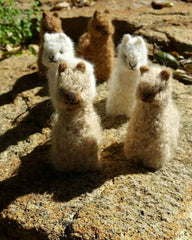 alpaca hand made baby alpaca felt ornament
