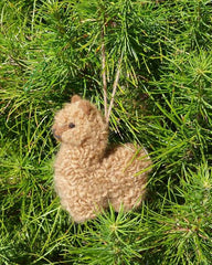 brown baby alpaca ornament