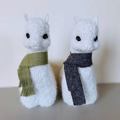 "9"" Alpaca Figures Hand Made Alpacadorable"