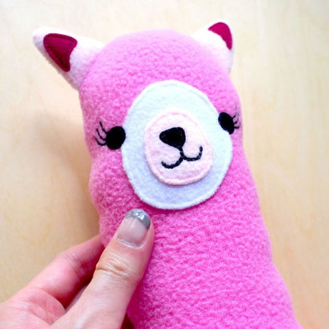 alpaca plush closeup