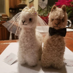 Alpacally Ever After Bride and Groom Alpacadorables.