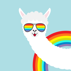 cool rainbow alpaca