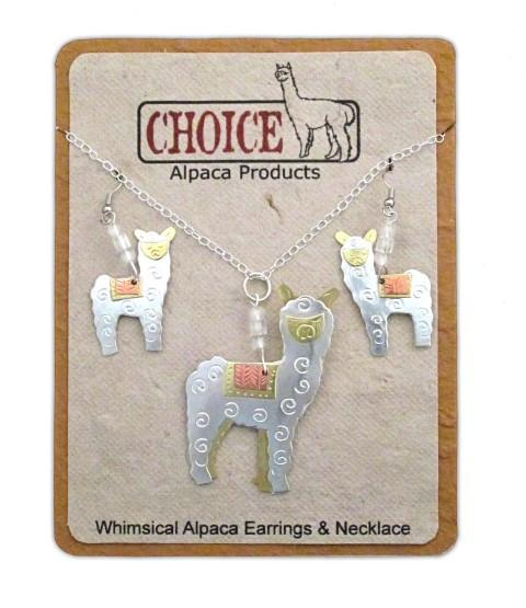 Whimsical Alpaca Jewelry and Ornaments