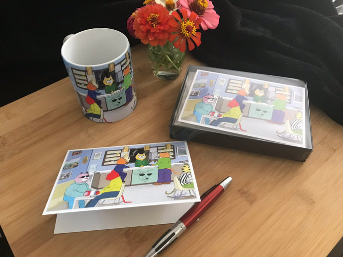 Coffee Cats Notecards and Bundles - Signed