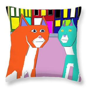 City Cats - Throw Pillow