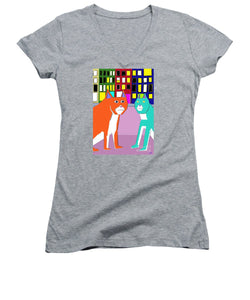 City Cats - Women's V-Neck T-Shirt (Junior Cut)