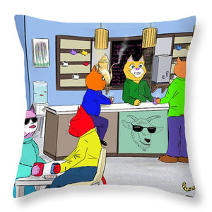 Coffee Cats - Throw Pillow