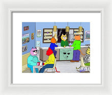 Coffee Cats - Framed Print