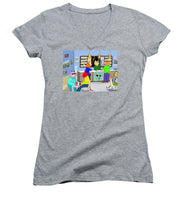 Coffee Cats - Women's V-Neck T-Shirt (Junior Cut)