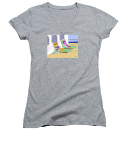 Cruise Cats - Women's V-Neck T-Shirt (Junior Cut)