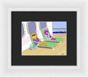 Cruise Cats - Framed Print