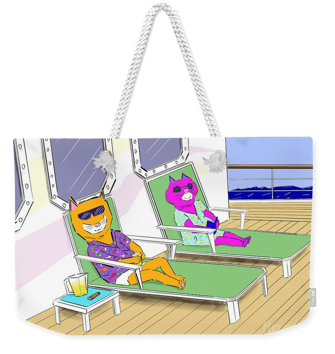 Cruise Cats - Weekender Tote Bag