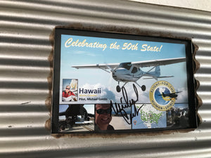 Flight for the Human Spirit Memorabilia in Metal Frame