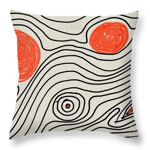Shapes Of Life - Throw Pillow