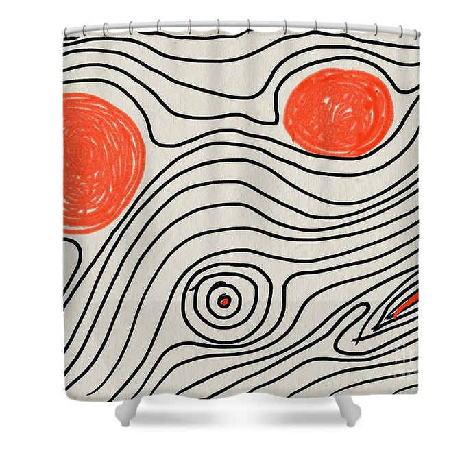 Shapes Of Life - Shower Curtain