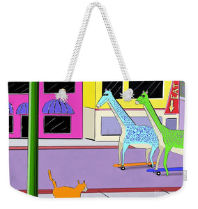 There Were Two Giraffes - Weekender Tote Bag