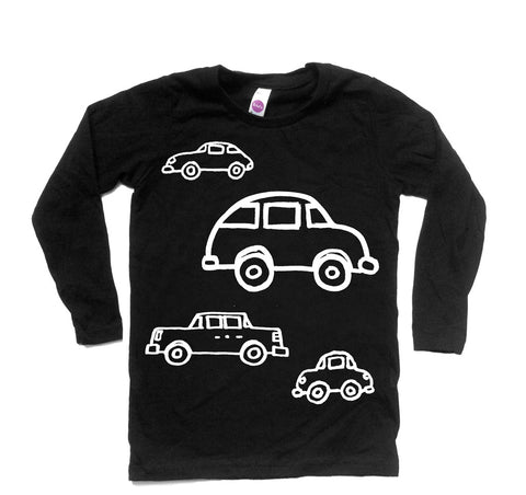Cars - long sleeve (white/black) - moozega  - 1