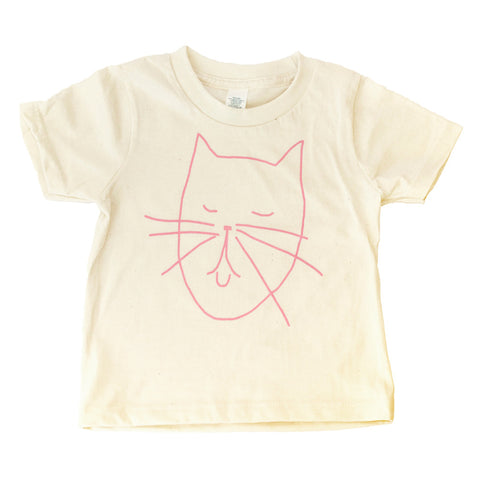 Creative Cat Toddler T Shirt - Organic (pink/natural) - moozega