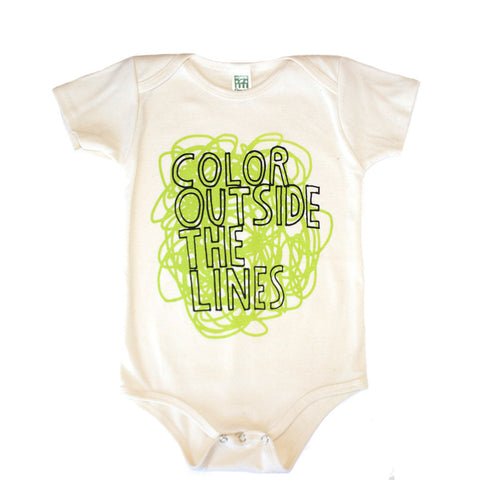 Color Outside The Lines Infant One Piece - Organic (green/natural) - moozega  - 1